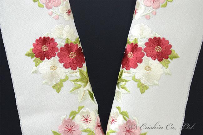 半衿 半襟 刺繍 四季花