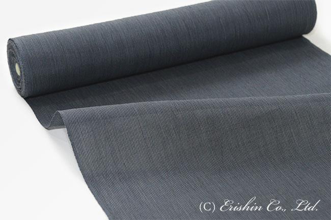 小千谷縮(細縞/墨色)広巾