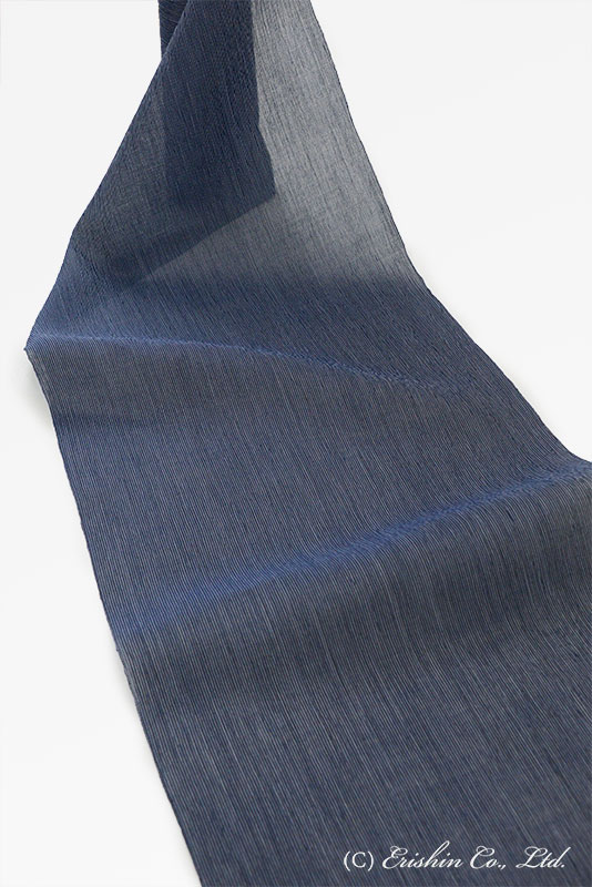 小千谷縮(細縞/濃紺)広巾