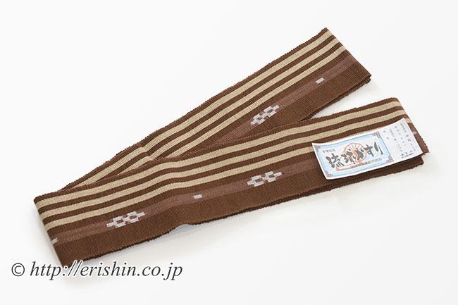 角帯(琉球かすり/焦茶)