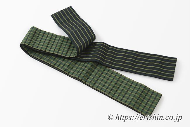 角帯(博多織・手織り/段浮格子)