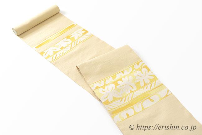 八寸織名古屋帯(象刻彫文/大葉) 洛風林