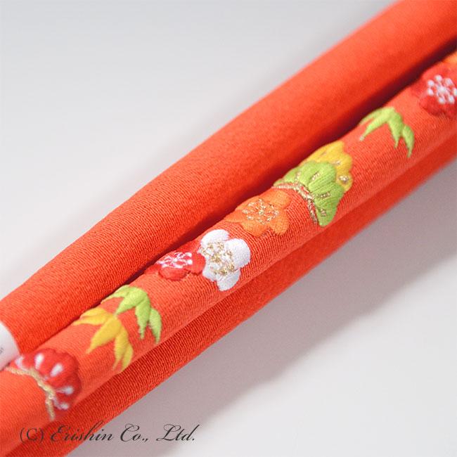 帯締め 赤橙松竹梅(七五三向け)