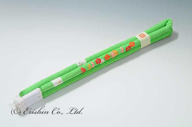 帯締め 丸ぐけ 黄緑松竹梅(七五三向け)