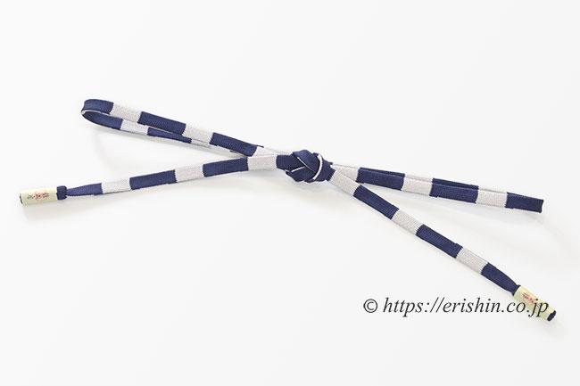 内記組/濃藍×白鼠色