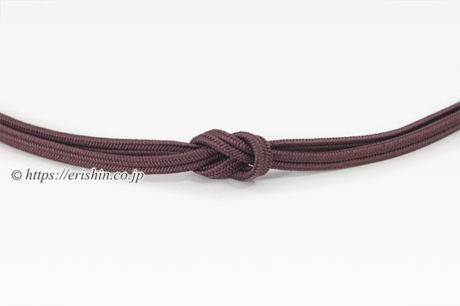 帯締め 細ゆるぎ組/冠組(紫鳶色