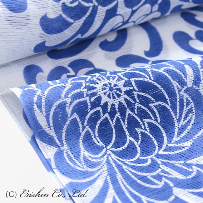 竺仙 綿絽 浴衣