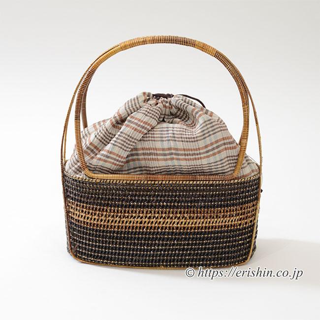 籠巾着バック(ヤンリパオ) 和小物さくら