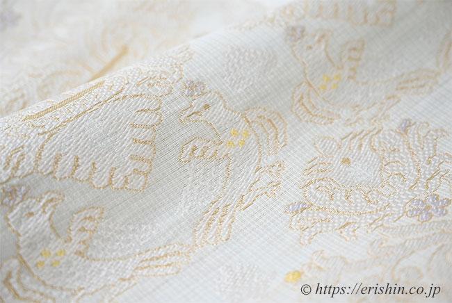 夏・単衣向き九寸織名古屋帯(欧風装飾文)