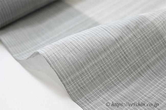 小千谷縮(片身違い/ライトグレイ)広巾