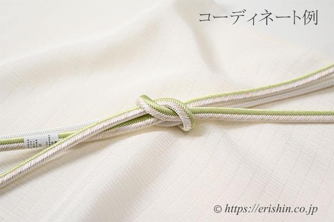 絹縮絽無地帯揚げのコーディネート例