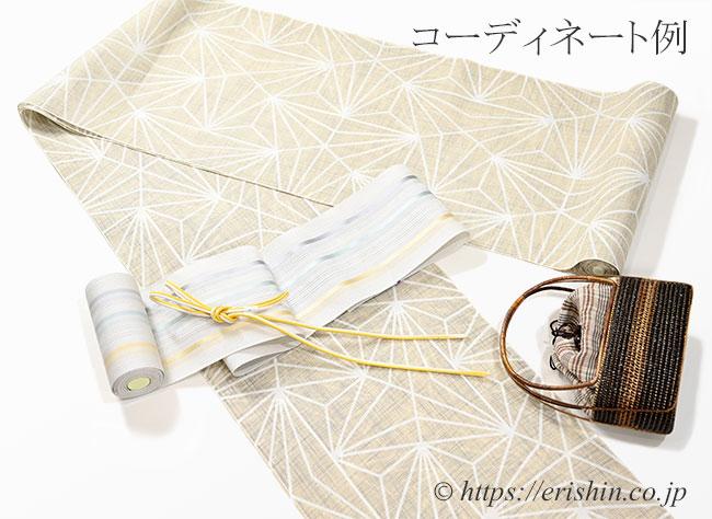紗の博多半幅帯のコーディネート例