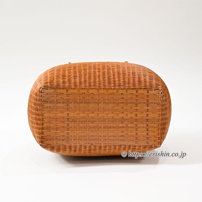 竹籠巾着付バッグ(栗の実色) 和小物さくら