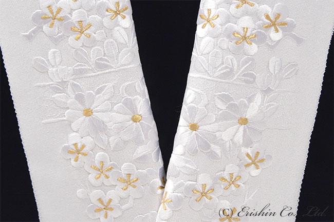 半衿 刺繍 礼装向き