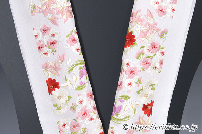 半衿 半襟 刺繍 礼装 渡敬