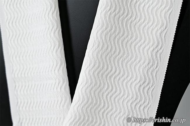 ふくれ織り半衿(よろけ/白)