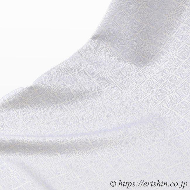 丹後織御召(淡白藤色) 正絹ウォッシャブル