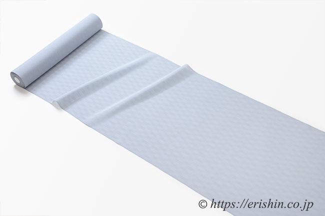 明石縮(よろけ小格子無地/薄水色鼠色)広巾