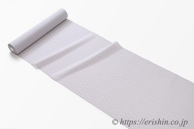 明石縮(よろけ小格子無地/ライラックグレイ)広巾