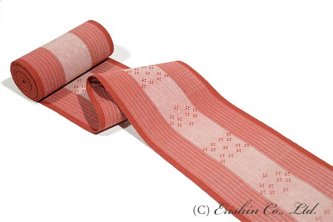 首里花倉織半幅帯(手織り)