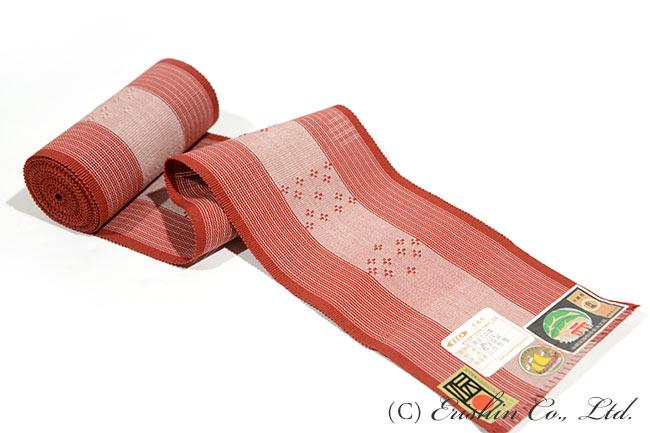 首里花織半幅帯(手倉織り)証紙