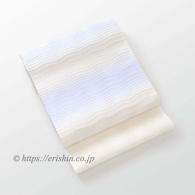 博多八寸名古屋帯(波のゆらぎ/紗)[夏・単衣向]