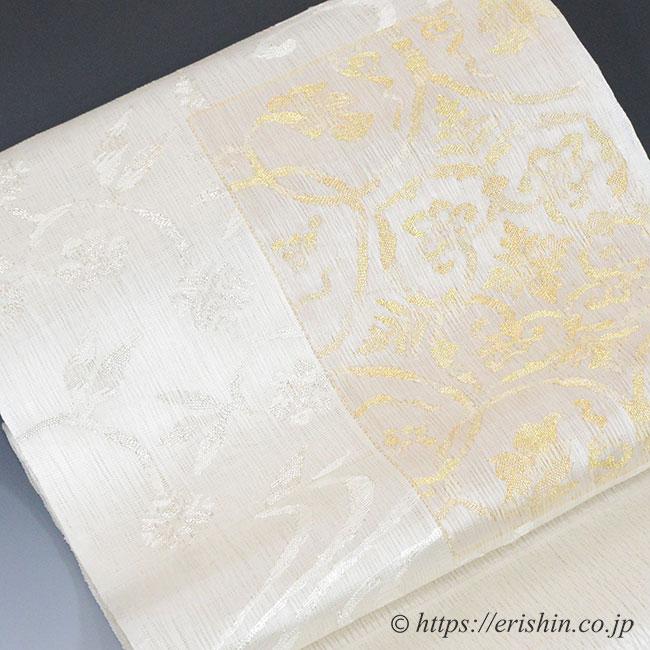 櫛織り 名古屋帯 単衣向き