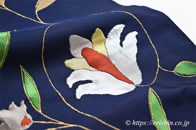 洛風林 九寸織名古屋帯(ボハラ蔓花)