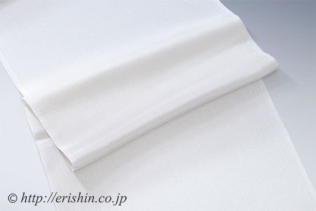 楊柳帯揚げ(段暈かし/白鼠) (単衣向き)