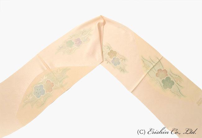 竹に梅と桜柄の帯揚げの全体画像