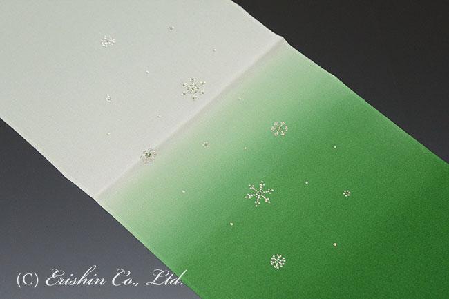 帯揚げ(雪の結晶)