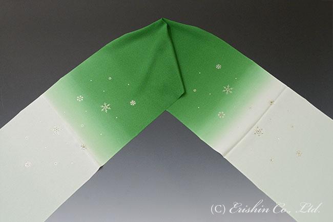 スワロフスキー 帯揚げ グリーン 緑