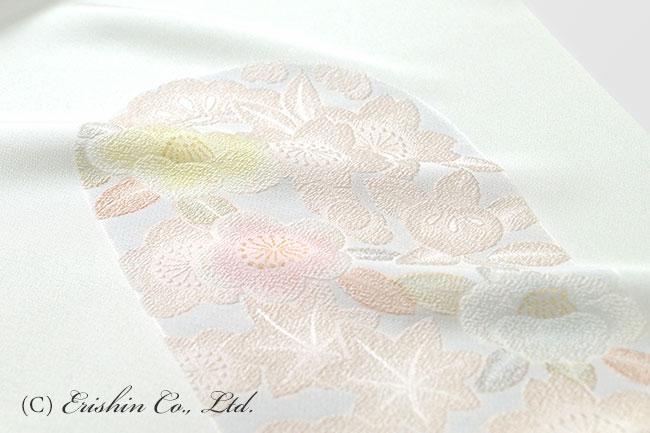 礼装向け 帯揚げ 四季の花