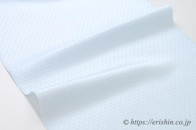 帯揚げ(鱗文様/白藍・紋綸子)