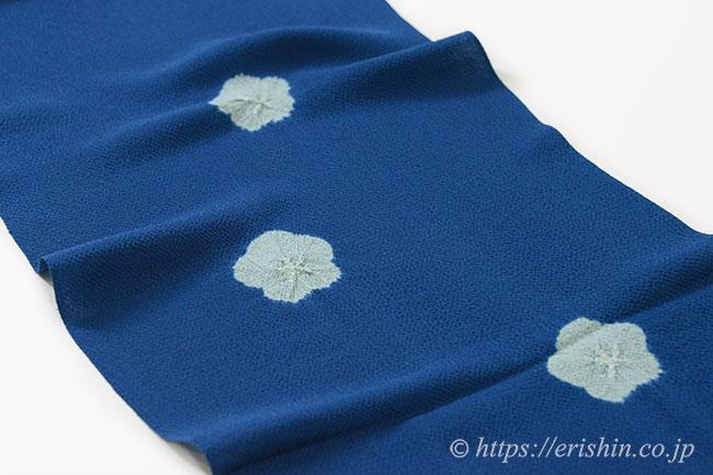 帯揚げ(絞り輪出し/青藍色)