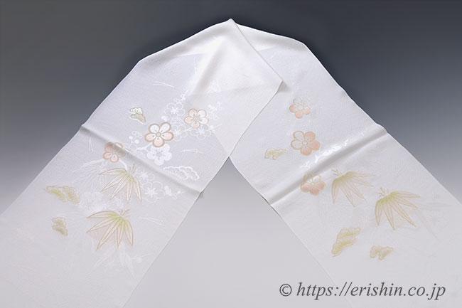 帯揚げ 礼装 盛装 白地