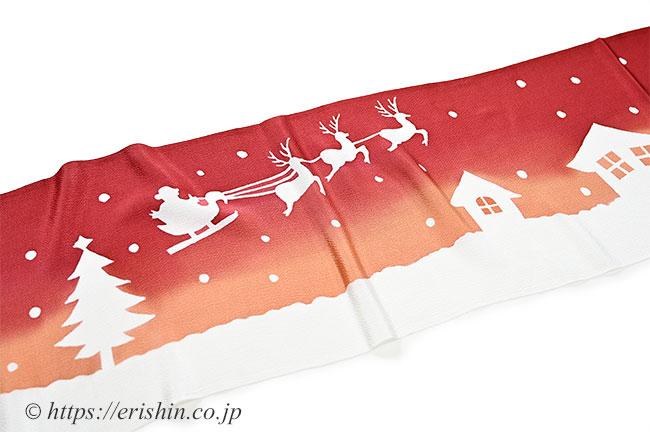帯揚げ(クリスマス)