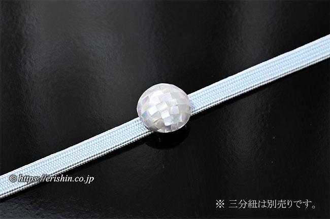 螺鈿帯留め(三分紐と)