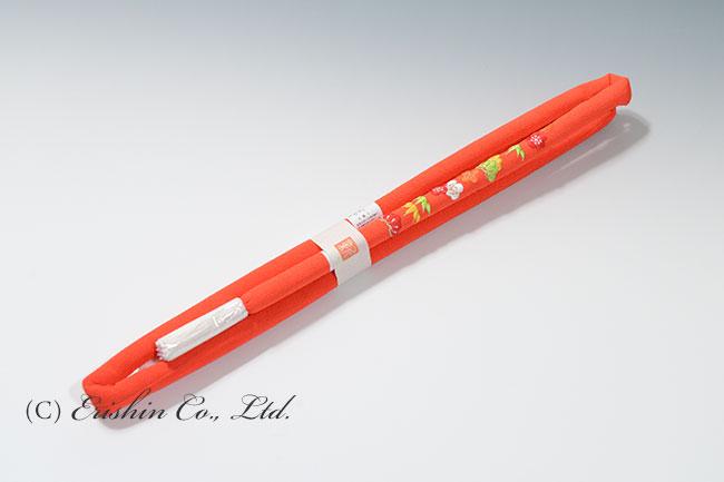 帯締め 丸ぐけ/赤橙松竹梅(七五三向け)