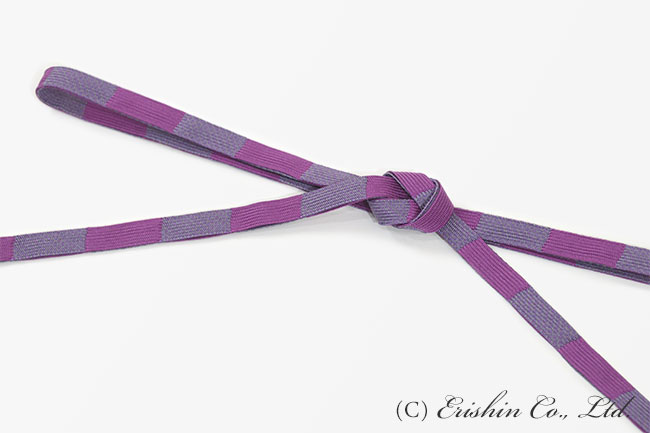 帯締め 二枚高麗組/梅紫