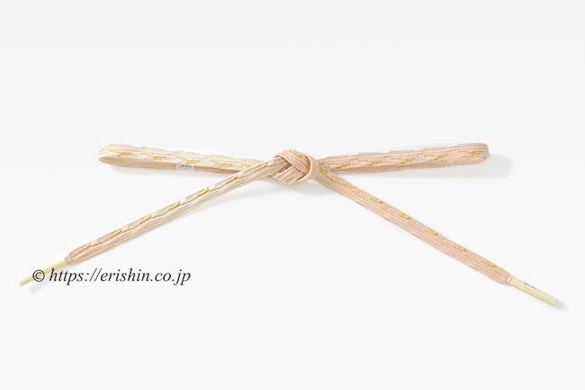 帯締め 貝の口浮舟組(香色暈し)