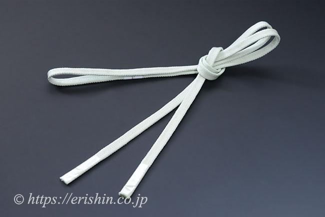 三分紐 帯締め兼用(金線散らし/藍白色)