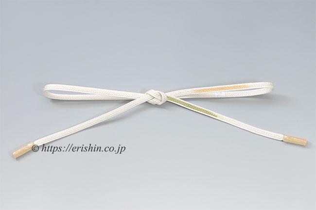 帯締め 観世組(縫い合わせ/柳茶×淡香)