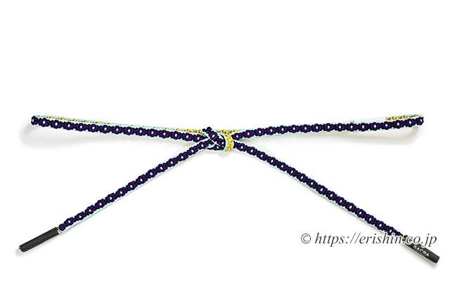 小桜組帯締め(桑の実色×花葉色) 和小物さくら/SACRA