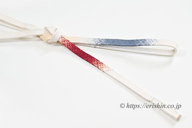 ゆるぎ組帯締め(冠組み)桑の実色