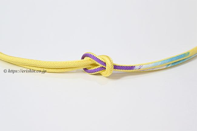 帯締め 洋角組(黄蘗色) 和小物さくら