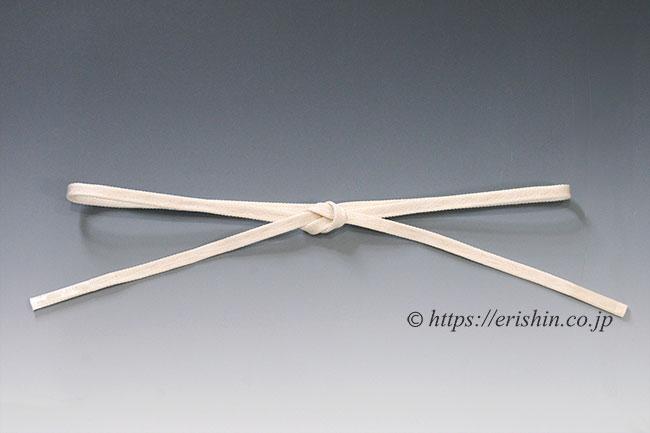 三分紐 帯締め兼用(金線散らし/象牙色)