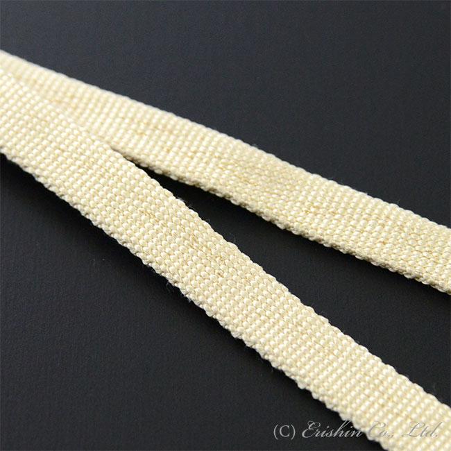 三分紐 帯締め兼用(金線散らし/鳥の子色)